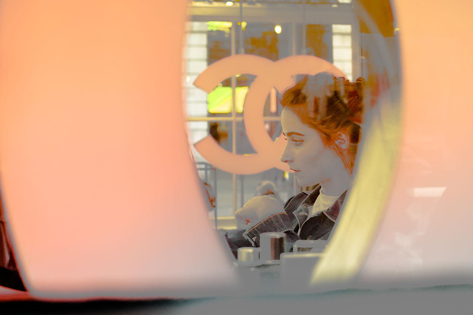 Londres vitrine Chanel